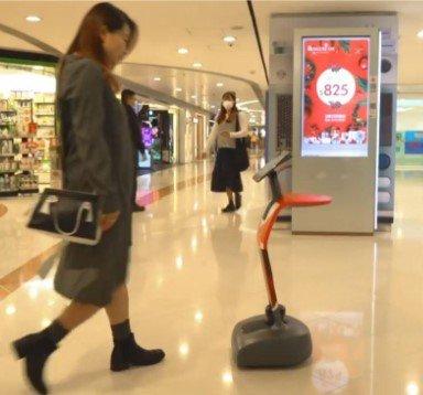 Los robots en tiendas y centros comerciales